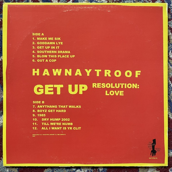 HAWNAY TROOF Get Up Resolution: Love (The Company With The Golden Arm - Germany original) (VG+/EX) LP