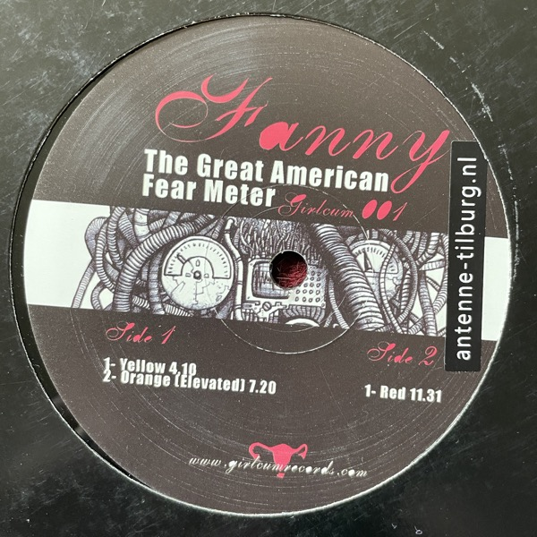 "FANNY The Great American Fear Meter (Girlcum - Canada original) (VG+) 12"""