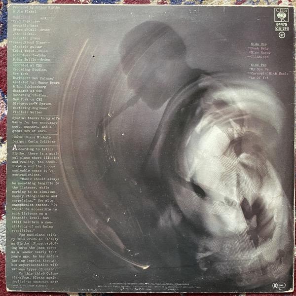ARTHUR BLYTHE Illusions (CBS - Europe original) (G/VG) LP