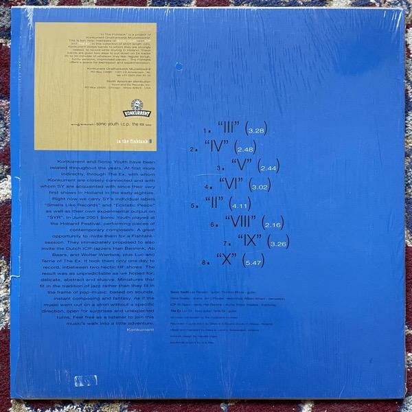 "SONIC YOUTH + I.C.P. + THE EX In The Fishtank 9 (Konkurrent - Holland original) (EX) 12"""