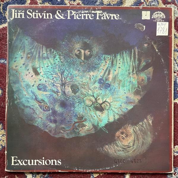 JIRÍ STIVÍN & PIERRE FAVRE Výlety = Excursions (Supraphon -  Czechoslovakia 1982 repress) (VG-/VG) 2LP