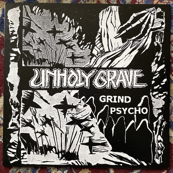 UNHOLY GRAVE / SETE STAR SEPT Split (Gold vinyl) (Bringer Of Gore - Belgium original) (EX/NM) LP