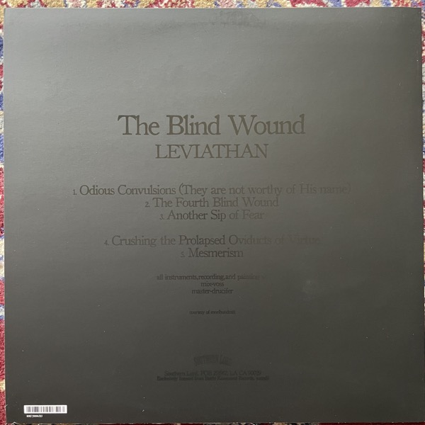 LEVIATHAN The Blind Wound (Southern Lord - USA 2nd press) (NM/EX) LP