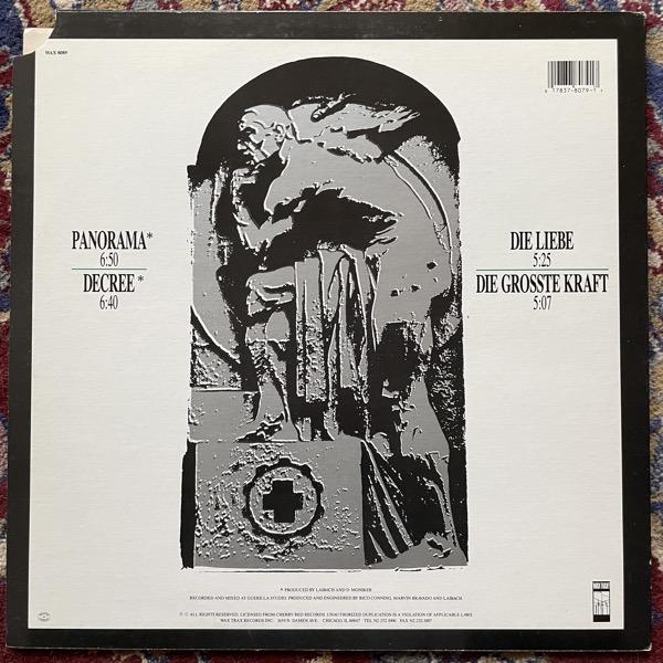 """LAIBACH Panorama / Die Liebe (Wax Trax! - USA original) (VG+/EX) 12"""""""