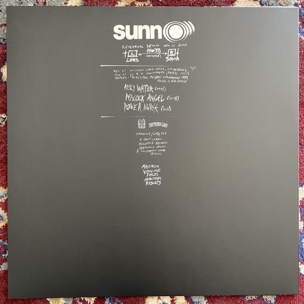 SUNN O))) Rehearsal Demo Nov 11 2011 (Southern Lord - USA original) (NM) LP