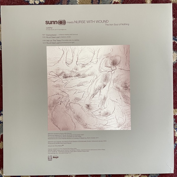 SUNN O))) MEETS NURSE WITH WOUND The Iron Soul Of Nothing (Ideologic Organ - Europe original) (NM) 2LP