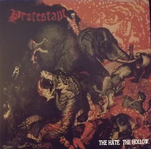 PROTESTANT The Hate. The Hollow. (Swirl vinyl) (Halo of Flies - USA original) (EX/NM) LP