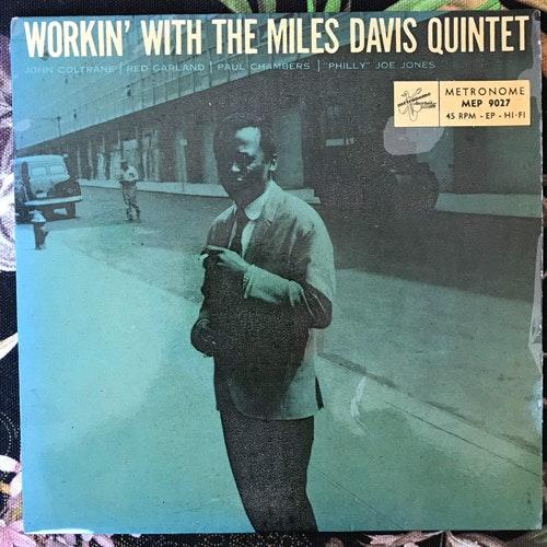 "MILES DAVIS QUINTET, the Workin' With The Miles Davis Quintet (Metronome - Sweden original) (VG+/VG) 7"""