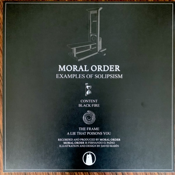 """MORAL ORDER Examples Of Solipsism (Cloister - USA original) (NM) 12"""" EP"""