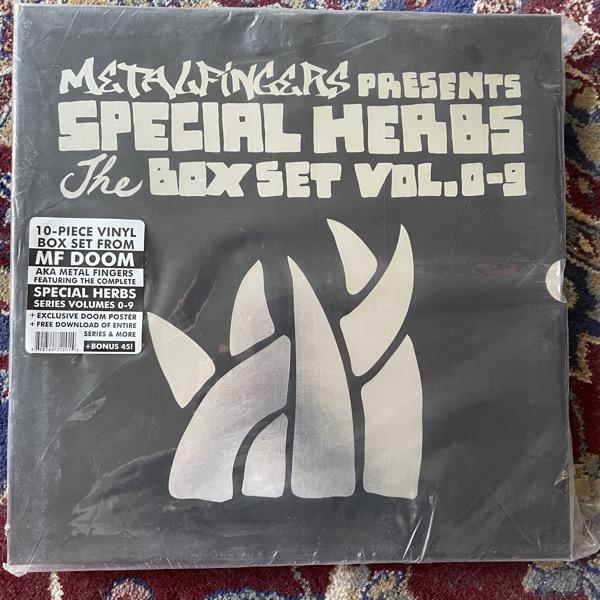 """METAL FINGERS / MF DOOM Presents Special Herbs The Box Set Vol. 0-9 (Nature Sounds - USA original) (EX) 10xLP+7"""""""