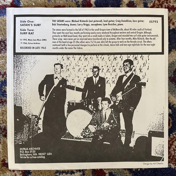 "SATANS, the Satan's Surf (Estrus - USA original) (VG+) 7"""