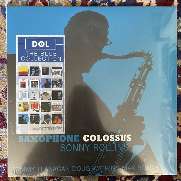 SONNY ROLLINS Saxophone Colossus (Blue vinyl) (DOL - Europe reissue) (SS) LP
