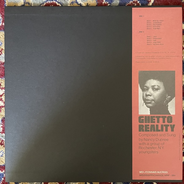 NANCY DUPREE WITH GROUP OF ROCHESTER, NY YOUNGSTERS Ghetto Reality (Mississippi - USA reissue) (NM/EX) LP