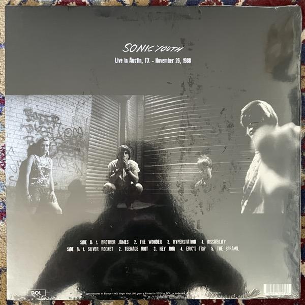SONIC YOUTH Live In Austin – November 26, 1988 (Orange vinyl) (DOL - Europe repress) (SS) LP