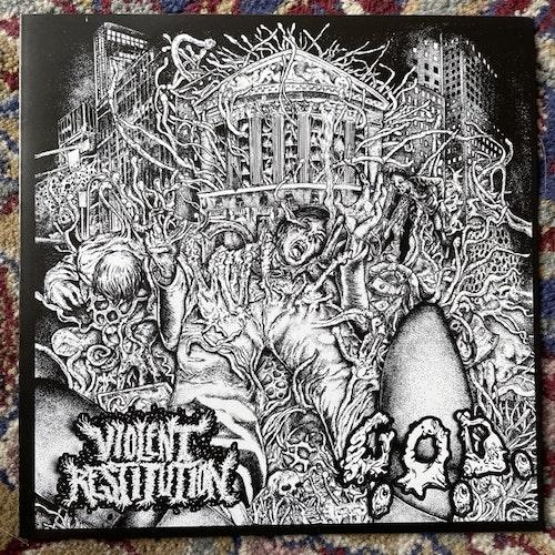 "VIOLENT RESTITUTION / G.O.D. Split (Mercy Of Slumber - USA, Europe, Canada - original) (EX) 7"""