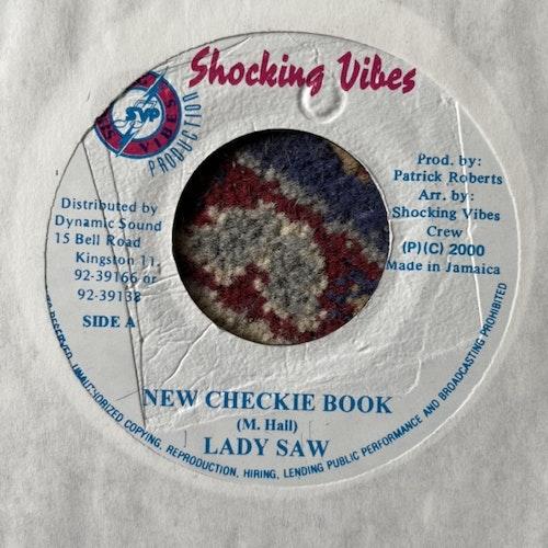 """LADY SAW New Checkie Book (Shocking Vibes - Jamaica original) (VG) 7"""""""
