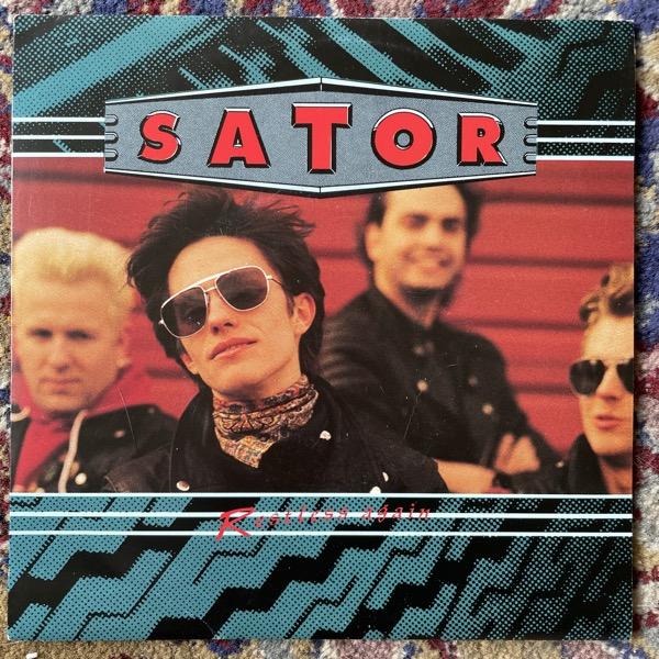 "SATOR Restless Again (Radium 226.05 - Sweden 1990) (VG+/EX) 7"""
