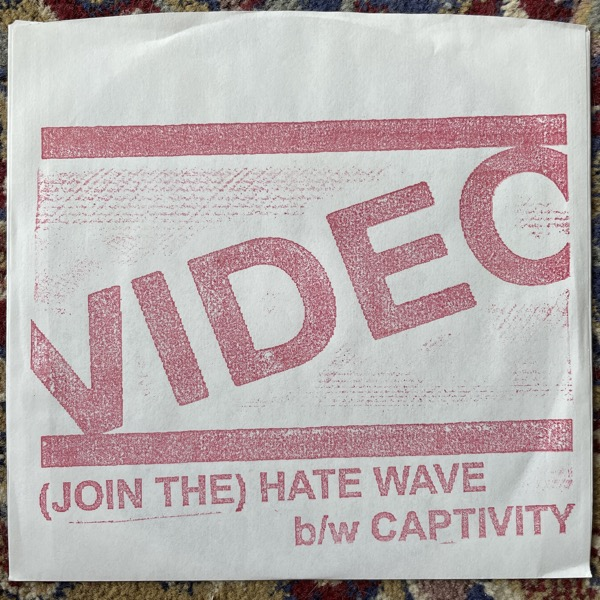 """VIDEO (Join The) Hate Wave (Total Punk - USA original) (EX) 7"""""""