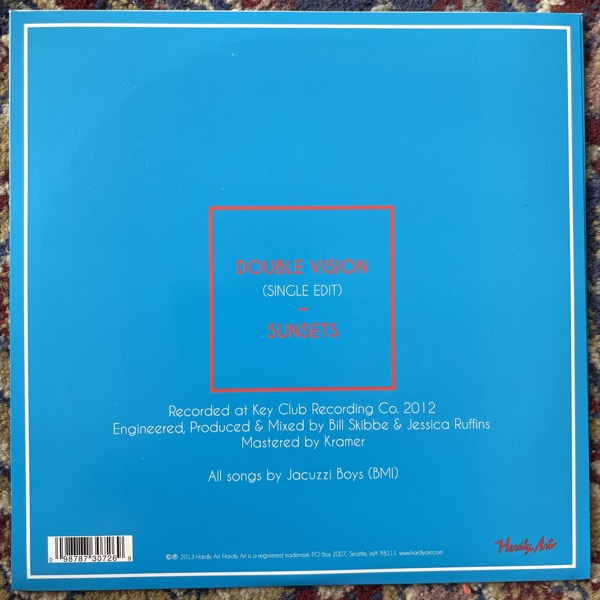 "JACUZZI BOYS Double Vision (Hardly Art - USA original) (EX) 7"""