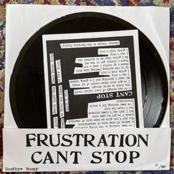 "MARTIN SAVAGE GANG Frustration / Can't Stop (Goodbye Boozy - Italy original) (EX) 7"""