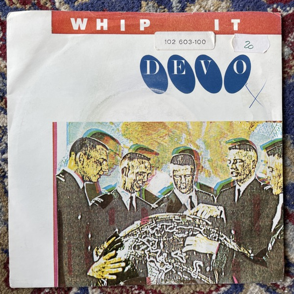 "DEVO Whip It (Virgin - UK original) (VG) 7"""