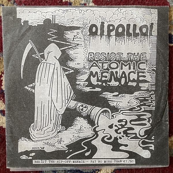 """OI POLLOI Resist The Atomic Menace (Red vinyl) (Campary - Germany 1994 reissue) (VG/VG+) 7"""""""