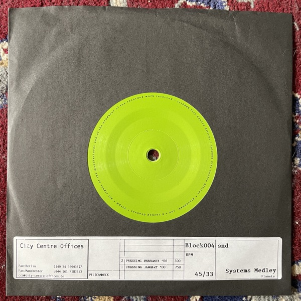 """SND Systems Medley / Planets (City Centre Offices - Germany 2nd press) (VG+/EX) 7"""""""