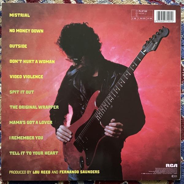 LOU REED Mistrial (RCA - Europe original) (EX/VG) LP
