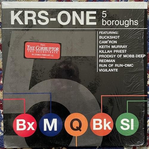 """KRS-ONE 5 Boroughs (Jive - USA original) (EX/VG) 12"""""""