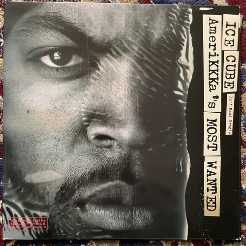 """ICE CUBE AmeriKKKa's Most Wanted (Priority - USA original) (VG+/EX) 12"""""""