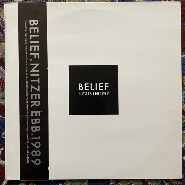 NITZER EBB Belief (Mute - Sweden original) (VG+/EX) LP
