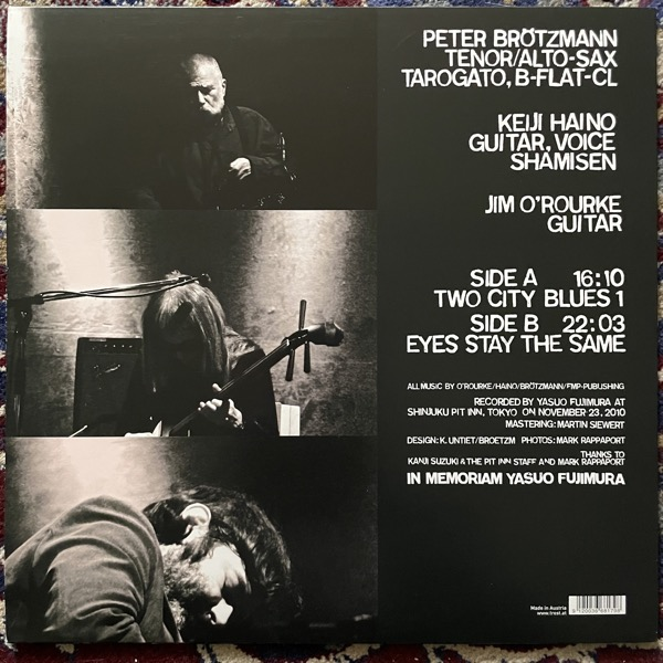 KEIJI HAINO, PETER BRÖTZMANN, JIM O'ROURKE Two City Blues 1 (Trost - Austria original) (EX) LP