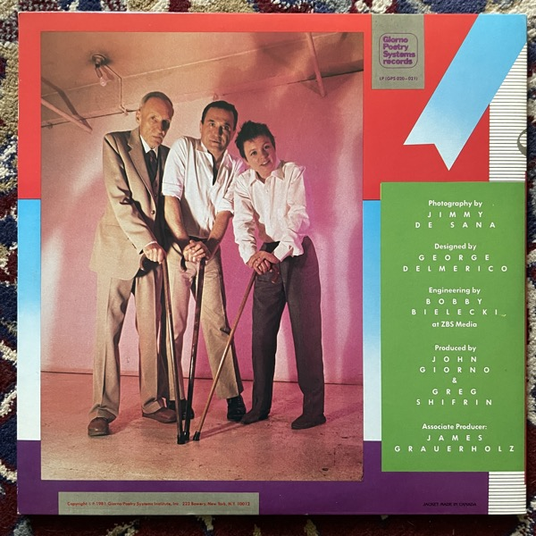 LAURIE ANDERSON / JOHN GIORNO / WILLIAM S. BURROUGHS You're The Guy I Want To Share My Money With (Giorno Poetry Systems - USA original) (EX) 2LP