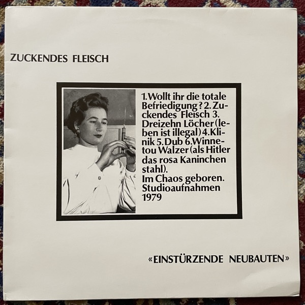 EINSTÜRZENDE NEUBAUTEN Zuckendes Fleisch (Camouflage bag) (No label - Germany original) (NM/VG+) LP