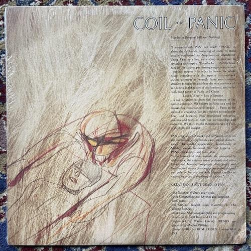 "COIL Aqua Regis · Panic · Tainted Love (Wax Trax! - USA original) (VG+) 12"""