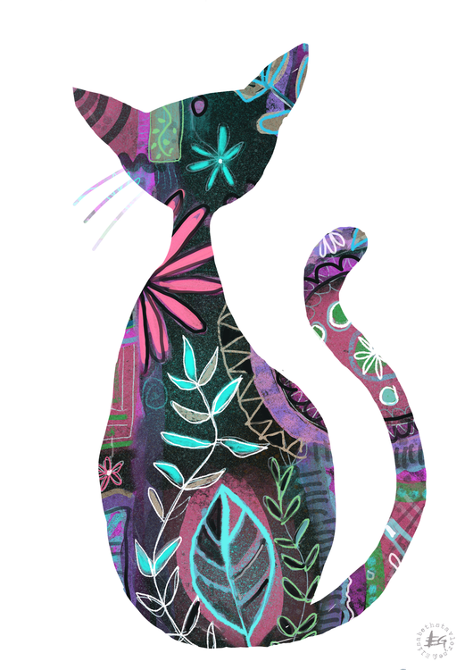 Patterned cat