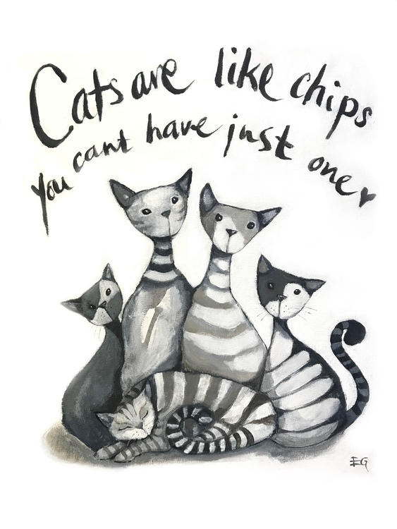 Cats are like chips