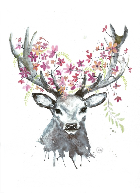 Blooming deer