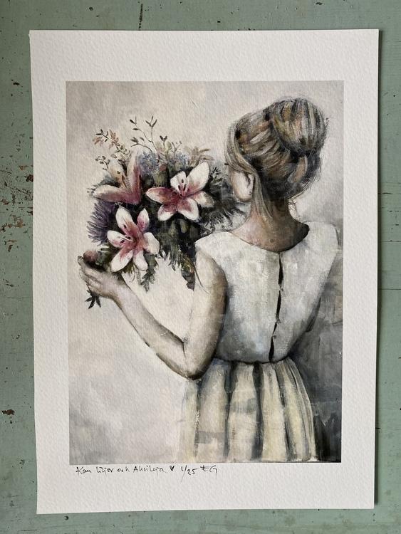 Kom liljor och akvileja a4