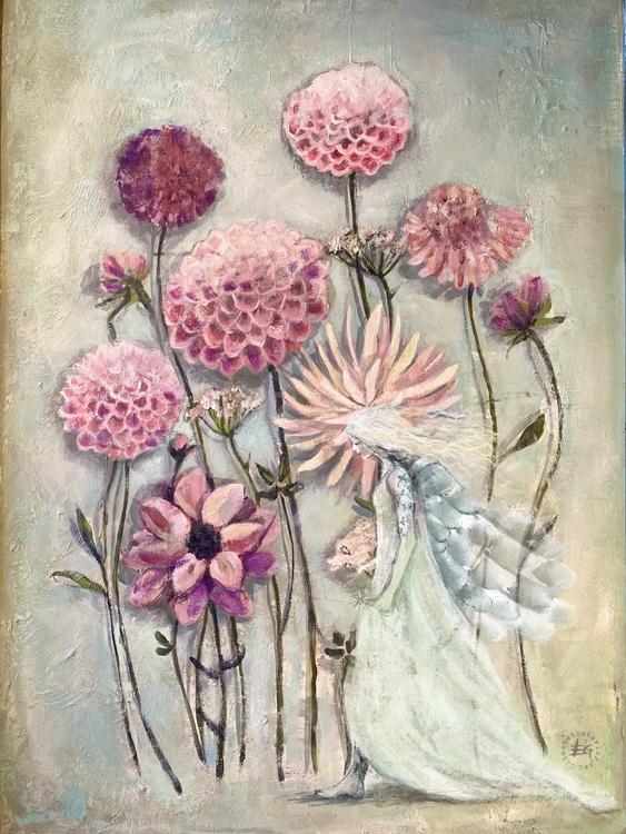 Det blommar alltid där du står med ängel