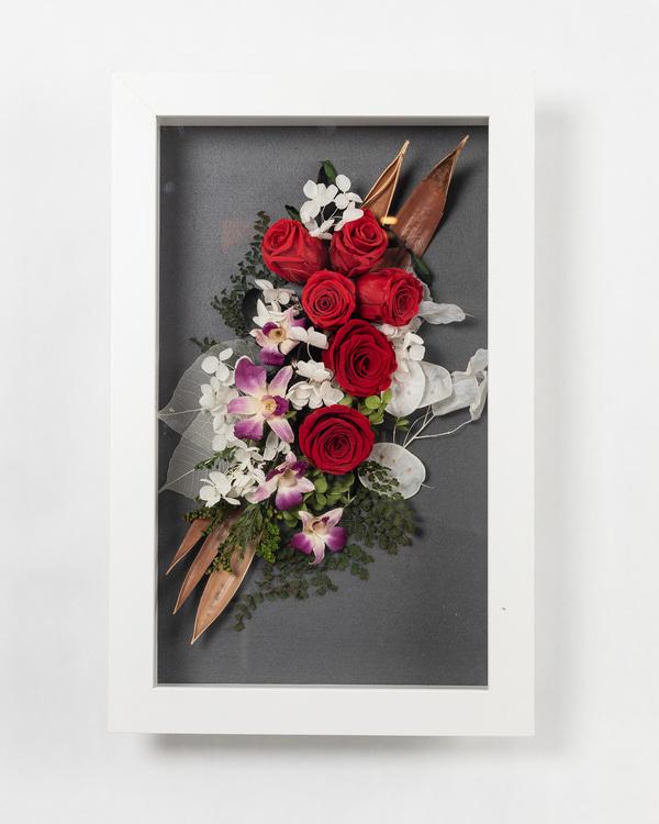 Blomram Favvo - Röd