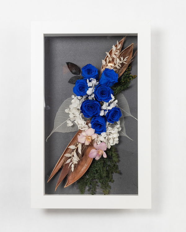 Blomram Favvo - Mörkblå