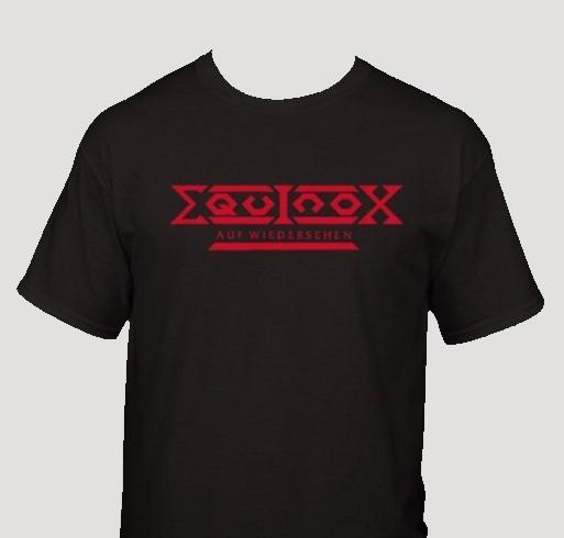 EQUINOX AUF WIEDERSEHEN T-SHIRT BLACK RED PRINT  XXL