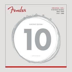 Fender 150R Ball End Gitarstrenger av Ren Nikkel, 10-46