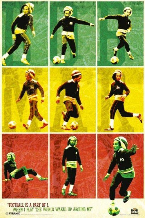 Bob Marley Football Poster 61 x 91