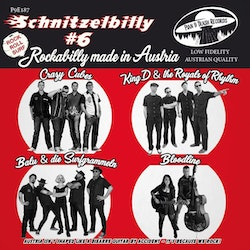 Various - Crazy Cubes, King D and The Royals Of Rhythm, Bloodline , Balu & Die Surfgrammeln ‎– Schnitzelbilly #6 Rockabilly Made in Austria vinyl ep
