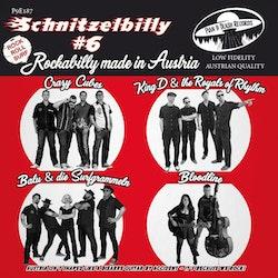Various - Crazy Cubes, King D and The Royals Of Rhythm, Bloodline , Balu & Die Surfgrammeln – Schnitzelbilly #6 Rockabilly Made in Austria vinyl ep