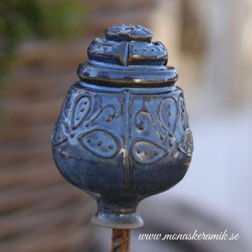 "Trädgårds ornament 4 ""Jeansblå"""