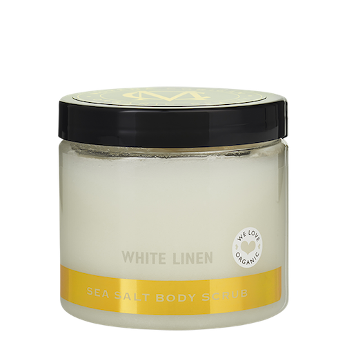 Sea Salt Body Scrub, White Linen, 275 g