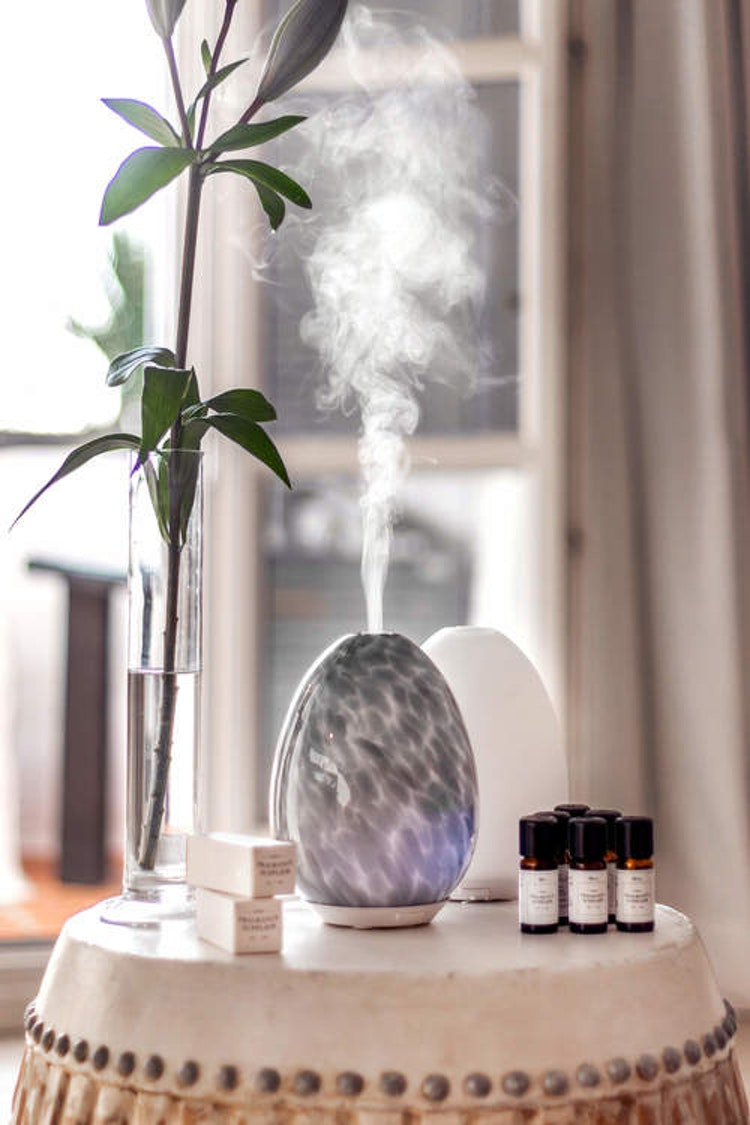 Aroma Diffuser Luftfuktare marmormelerad